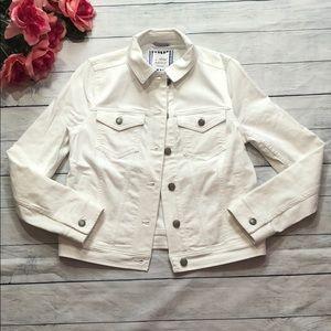 Vineyard Vines White Button Jean Denim Jacket